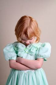 unhappy little green dress stock photography image 3900712