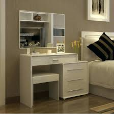 White Vanity Table With Mirror Modern Dressing Table With Mirror And Stool Modern White Dressing