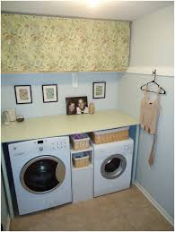 laundry room shelving ideas a folding zone with a basket for