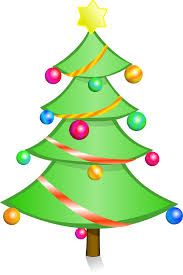 christmas tree decorated glowing png image pictures picpng