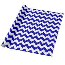 royal blue wrapping paper blue white chevron pattern paper gift wrap blue white chevron