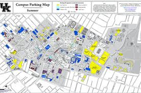 uky map of kentucky parking map map