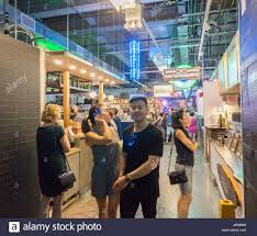foodies crowd and queue up the newly opened dekalb market hall