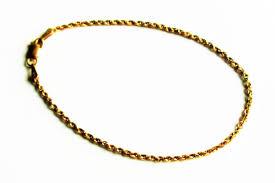 gold chain rope bracelet images Vintage rci 14k yellow gold chain bracelet 14k gold rope jpg