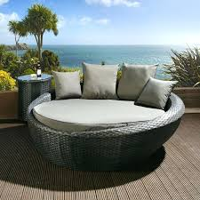 rattan patio daybed with canopy dark brown tag rattan daybed