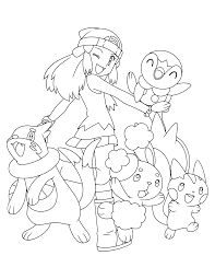 coloring pages pokemon coloring pages inside pokemon dawn