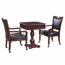 nice fortress chess checkers backgammon pedestal game table chairs
