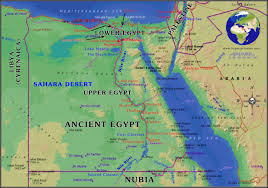 Geographic Map Of Africa by Ancient Egypt