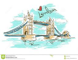 tower bridge clipart london city pencil and in color tower