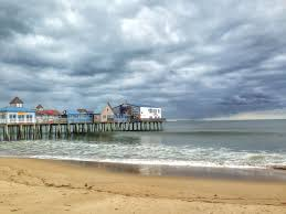 the pier at old orchard beach down east