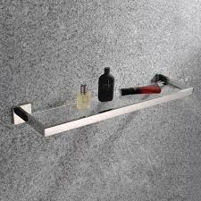 bathroom 7mm thick tempered glass shelf wall mount rectangular