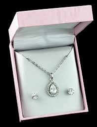 bridesmaid jewelry sets bridesmaid s jewelry sets classic pave teardrop bridesmaid
