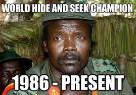 Kony Meme - world hide and seek chion 1986 present kony meme quickmeme