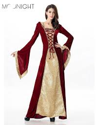 moonight gothic vampire costume with hooded costume