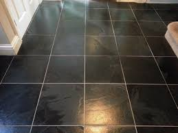 black slate tiled floor cleaned and sealed in east sussex east