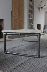 casey white washed reclaimed scaffolding boards coffee table with