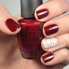 go polished valentine nail design white roses