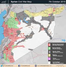 Map Of Al Complete Battle Map Of Syria October 2015 Update