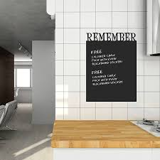 remember u0027 chalkboard wall sticker by spin collective
