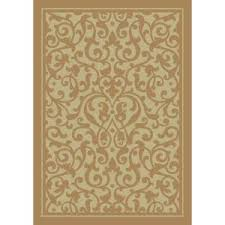 shaw accent rugs christine gold 5 ft 3 x 7 ft 10 area rug 3ua5073200 at the home