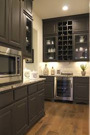 Large Kitchen Pantry Cabinet Burrows Cabinets U0027 Large Pantry With Cabinets Wine Refrigerator