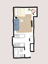 studio apartment floor plans one studio apartment 4 ways follow our stylish guide mydomaine