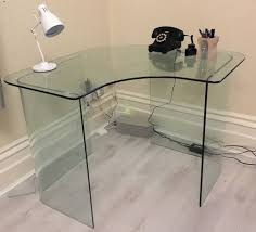 Glass Corner Computer Desks For Home Perfect Glass Corner Desk Desk Design Good Ideas For Corner