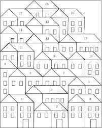 pretty little quilts hillside houses coloring sheet lone star