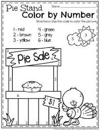 preschool thanksgiving activities number worksheets turkey pie