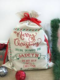 personalized santa sack personalized santa sack do not open until christmas st out