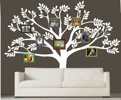 custom family tree decal vinyl wall decal photo white tree decals custom family tree decal vinyl wall decal photo white tree decals leaf leaves home baby room wall sticker stickers mural removable kids r718
