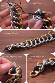 diy metal bracelet images Diy cc skye inspired two tone chain bracelet the stripe jpg