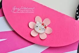 Invitation Card Hello Kitty Jingvitations Hello Kitty Purse Invitations