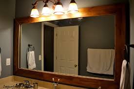 wondrous wood framed bathroom mirrors mirror frame part 2 antique