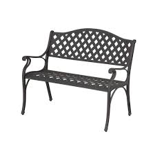 Hampton Bay Patio Furniture Amazon Com Hampton Bay Legacy Aluminum Patio Bench Patio Lawn