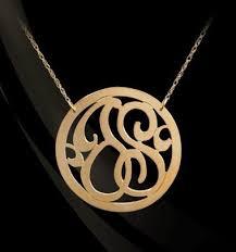 Initial Monogram Necklace 2 Initial Monogram Necklace Jane Basch Designs Carolina Clover
