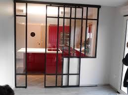porte coulissante separation cuisine fabricant d escalier garde corps verrière le lustre d