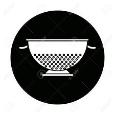 passoire de cuisine passoire de cuisine en métal cuisson élément icône vector