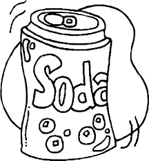 coloring pages of food food coloring pages soda coloringstar