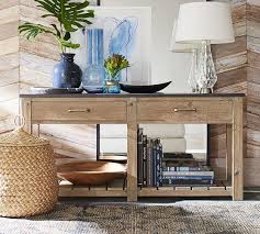 salvaged wood console table bowry reclaimed wood brown console table