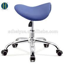 Barstool Chair High Quality Horse Seat Blue Fabric Hair Saddle Stool Buy