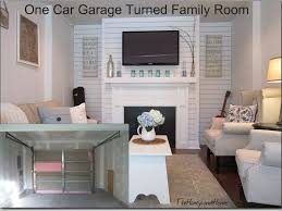single garage conversion ideas converting into room cost temporary