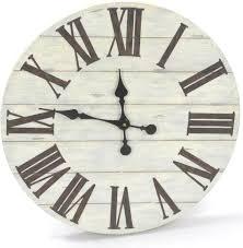 Horloge Murale Ronde Blanche Avec Horloge Murale Ronde En Lattes De Bois 50cm L Heure C Est L Heure