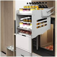cabinet storage in kitchen dyyd pull shelf ding rack lifting