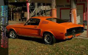 madagascar orange 1968 ford mustang gt rainbow colors fastback