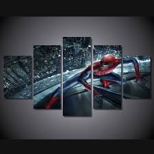 online get cheap spider man picture aliexpress com alibaba group home decor printed movie spider man group painting room decor print poster picture canvas unframed