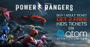 atom tickets buy 1 power rangers ticket 2 free