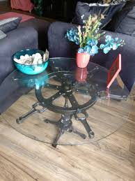 nautical engine table industrial steampunk furniture