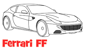 car drawing how to draw a car ferrari ff step by step easy drawing for kids