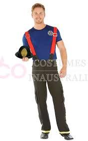 fireman costume men s fireman fighter fancy dress costume